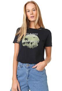 Blusa Calvin Klein Jeans Sunset Reflection Preta