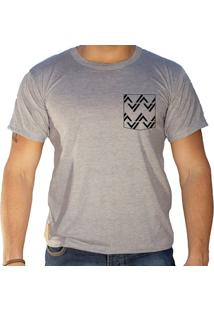 Camiseta Masculina Sandro Clothing Rhys Cinza