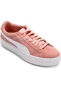 ba7fa9251 Netshoes. Tênis Couro Puma Vikky Stacked Feminino ...
