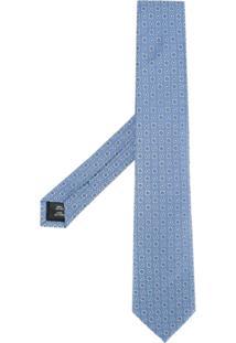 Gieves & Hawkes Gravata De Seda Estampada - Azul
