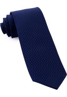 Gravata Pierre Cardin Seda Azul Marinho