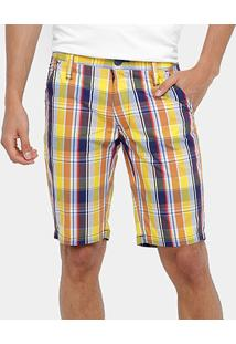 Bermuda Colcci Xadrez Color Masculina - Masculino