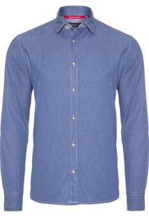 Camisa Masculina Regular Forim - Azul