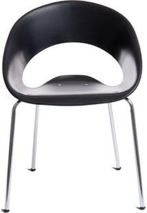 Cadeira One Base Fixa Cromada Cor Preto - 30347 - Sun House