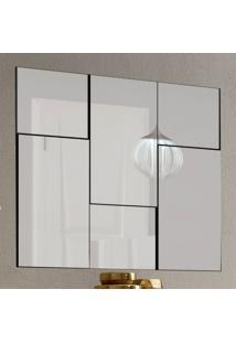 Espelho Escala 3D 90 Cm 100% Mdf Tb96 Preto Brilho - Dalla Costa