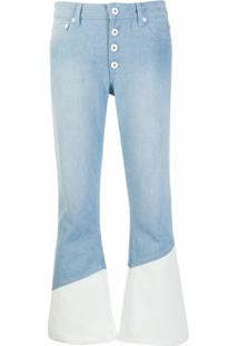Each X Other Calça Jeans Flare Bicolor - Azul