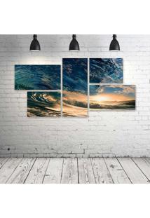Quadro Decorativo - Sea-Ocean-Water-Wave - Composto De 5 Quadros