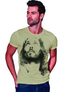 Camiseta Estonada Corte À Fio Joss Deus - Areia