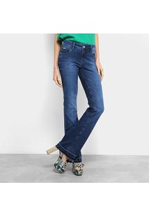 3e7cda6d9 ... Calça Jeans Flare Colcci Estonada Barra Desfiada Cintura Média Feminina  - Feminino-Jeans