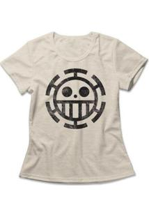 Camiseta One Piece Trafalgar Law Feminina - Feminino-Mescla