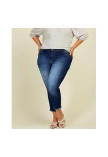 Calça Plus Size Feminina Jeans Cigarrete Razon
