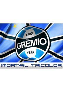 Tábua De Vidro Para Corte Grêmio 25Cm X 35Cm - Unissex-Azul