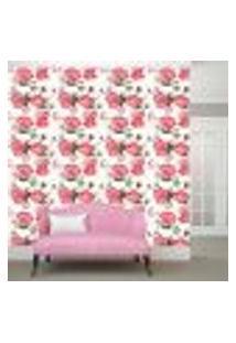 Papel De Parede Adesivo - Rosa - Flores - Floral - 162Ppf