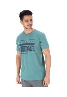 Camiseta Hang Loose Volcano - Masculina - Azul/Cinza