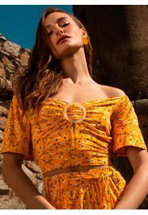 Blusa Feminina Ciganinha Amarelo