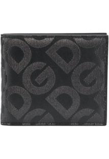 Dolce & Gabbana Carteira Dobrável Com Dg Gravação - Preto