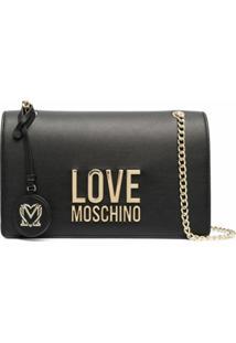 Love Moschino Bolsa Tiracolo Com Logo De Letras - Preto