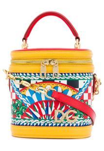 Dolce & Gabbana Bolsa Tote Com Estampa 'Sicilian Carretto' - Vermelho