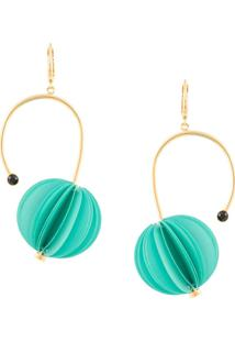 Marni Circular Earrings - Verde