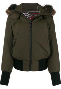 Moose Knuckles Fur Hooded Jacket - Verde