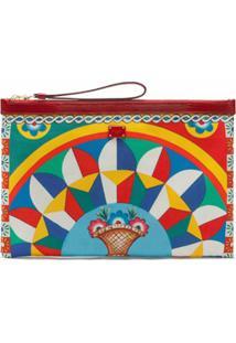 Dolce & Gabbana Porta-Moedas Com Estampa Gráfica E Fechamento Por Zíper - Vermelho
