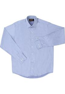 Camisa Masculina Manga Longa Fast Back - Masculino-Azul