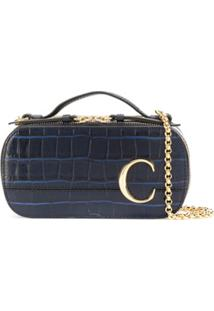 Chloé C Logo Cross Body Bag - Azul