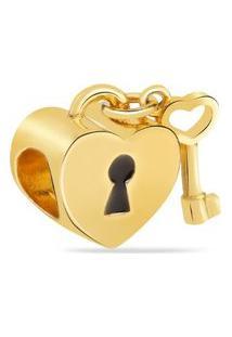 Pingente Life Coração Com Chave
