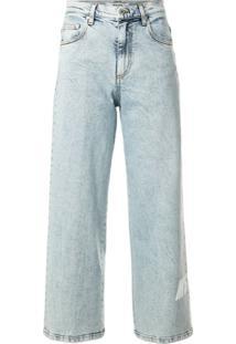 Msgm Calça Jeans Reta Cintura Média Azul