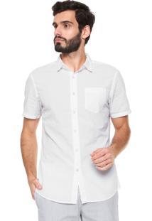 Camisa Banana Republic Grand Fit Básica Off-White