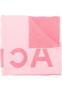 Acne Studios Cachecol Toronty Com Logo - Rosa
