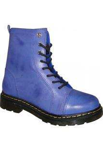 Bota Cravo E Canela Ref.85605 - Feminino-Azul Claro