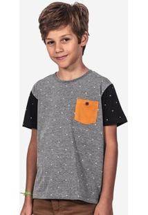 Camiseta Hermoso Compadre Estampada Bolso Mostarda - Masculino-Cinza
