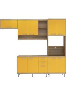Cozinha Compacta Multimóveis Sicília 5828.132.695 Argila Amarelo Se