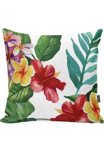 Capa De Almofada Garden Flowers- Branca & Verde- 45Xstm Home