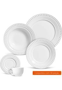 Aparelho De Jantar Com 30 Peças Atenas I Branco