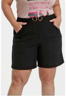 Bermuda Feminina Cinto Plus Size