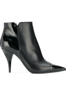 Casadei Ankle Boot Com Salto Agulha - Preto