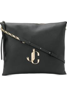 Jimmy Choo Varenne/L Shoulder Bag - Preto
