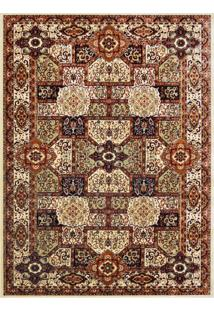 Tapete Isfahan Retangular Veludo 98X150 Cm Creme