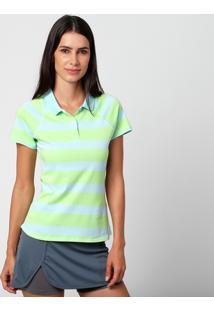 e0e4375e37 Camisa Polo Nike Advantage Jacquard - Feminino-Azul Claro