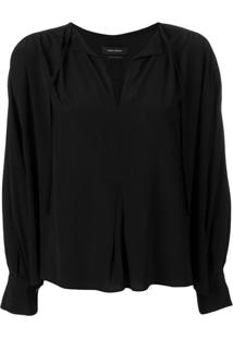 Isabel Marant Amba Long-Sleeved Blouse - Preto