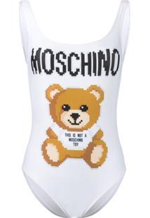 Moschino Maiô Teddy Bear - Branco