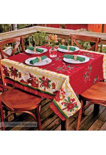 Toalha De Mesa Estampada Natal- Vermelha & Amarela- Lepper