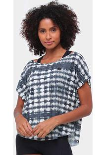 Blusa Colcci Bata Assimétrica Feminina - Feminino-Preto+Bege