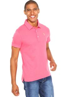 Camisa Polo Sergio K Slim Rosa