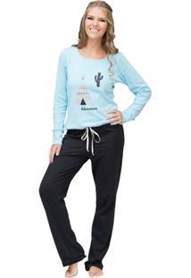 Pijama Longo Inspirate Adventure - Feminino