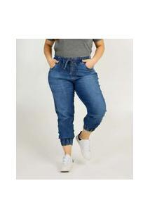 Calça Plus Size Feminina Jeans Jogger