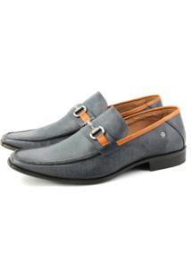 Sapato Social Perlatto 1878 Jeans Azul
