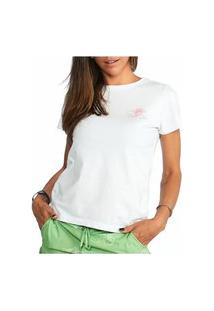 Camiseta Feminina Vaca Lôca - Branco Com Rosa